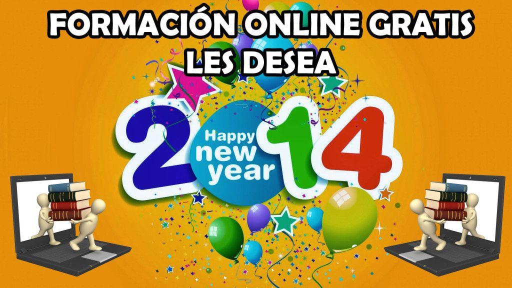 formacion online gratis les desea feliz 2014