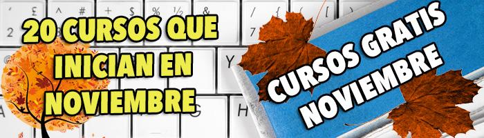 cursos gratis noviembre 2015